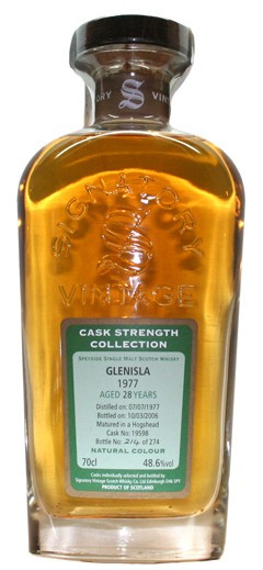Whisky Signatory Vintage - Cask Strenght Collection Glen Isla 28 Years (43º)