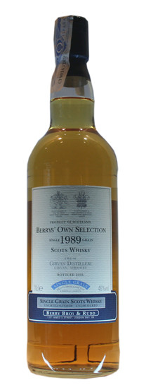 Whisky Girvan Berry´s Own Selection 1989 (46º)